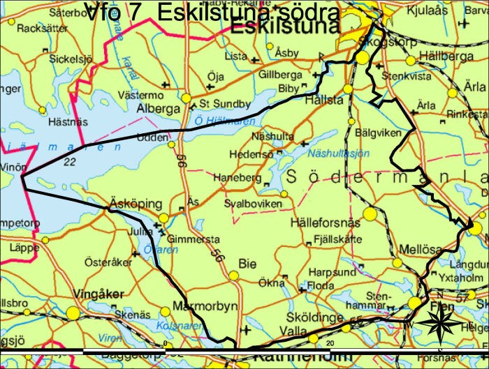 sörmland karta VFO 7 Sörmland   Svenska Jägareförbundet sörmland karta