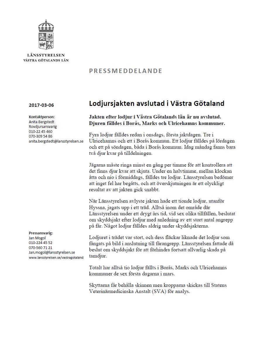 svenska jägareförbundet västra götaland