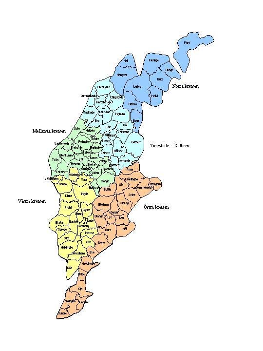 karta gotland socknar Kretsar   Svenska Jägareförbundet karta gotland socknar